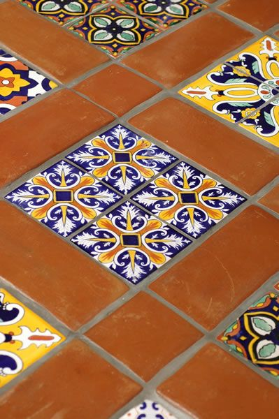 Mexican Tile - Spanish Mission Red Terracotta Floor Tile [ MexicanConnexionForTile.com ] #interior #Talavera #handmade