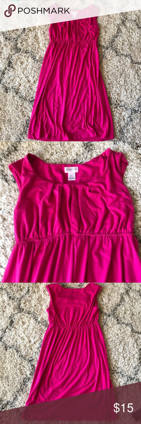 Pink Maternity dress Adorable pink sleeveless maternity dress Motherhood Maternity Dresses Midi