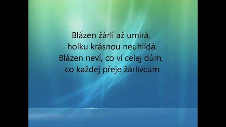 Blázen žárlí- Jakub Smolík (Text)