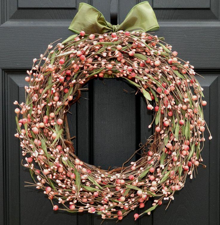 Berry Wreath - Spring Wreath - Door Wreath - Pink Wreath Etsy.
