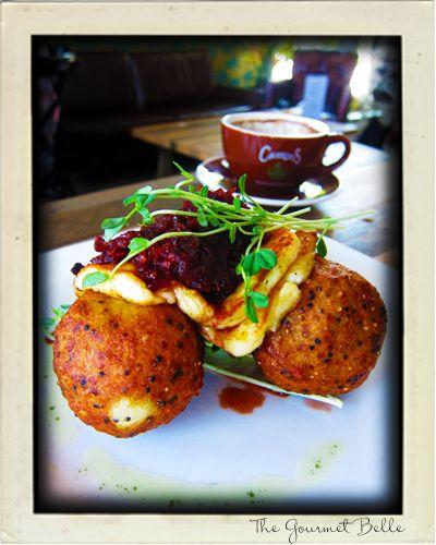 Quinoa Potato Hash Cakes at Pawpaw cafe in Woolloongabba, Brisbane. #breakfast #brunch #glutenfree #Brisbane