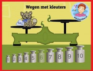 Wegen met kleuters op digibord of computer op kleuteridee,Kindergarten math weight game for IBW or computer