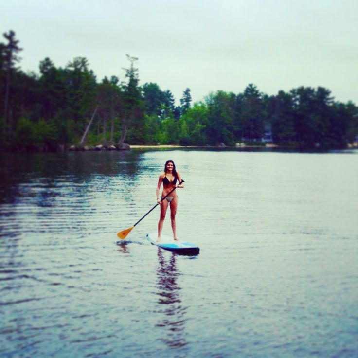 Paddle Boarding!! Seeing we spend weekends at the lake anyways this is totally something I'm gonna invest in next summer!!