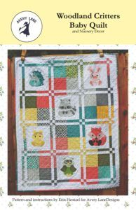 Woodland Critters Baby Quiltand Nursery Decor