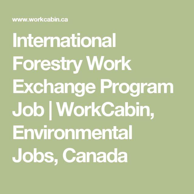 International Forestry Work Exchange Program Job | WorkCabin, Environmental Jobs, Canada