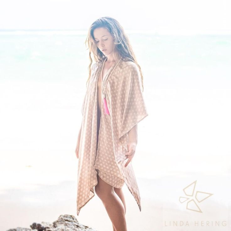 Another dreamy sneak-peek of the new Linda Hering collection: silk FLOWER OF LIFE kaftan, beige #newcollectionlaunch: 01/04 #lindahering #madewithloveinbaliღ #handmade #silk #kaftan #beachthrow  #newcollection #sneakpeek  #bali #accessories #musthaves #girlfriend #hippiechic #fashionista  #bohostyle #bohemianstyle #boholuxe #boho #artisinal #freespirit #indonesia #kaftanindonesia #beachfashion #floweroflife