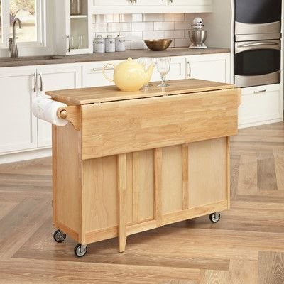 August Grove Killdeer Kitchen Island with Wood Top Products