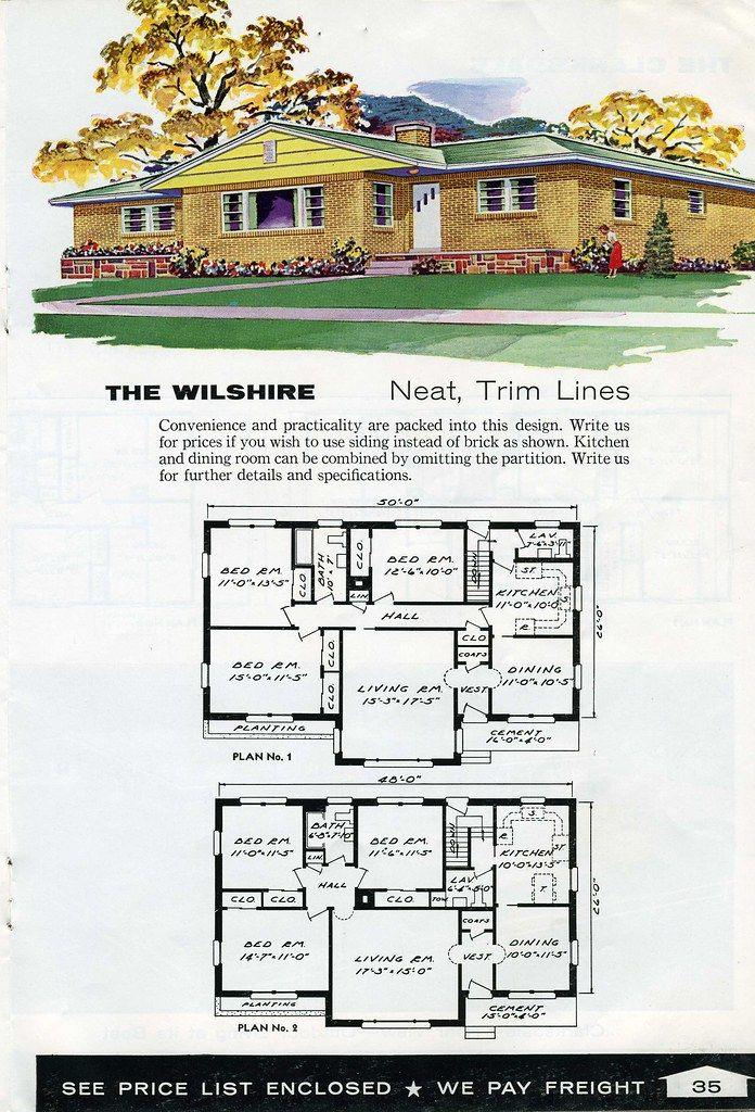 The Wilshireneat Trim Lines House Plans Building Design Mid Century Modern House