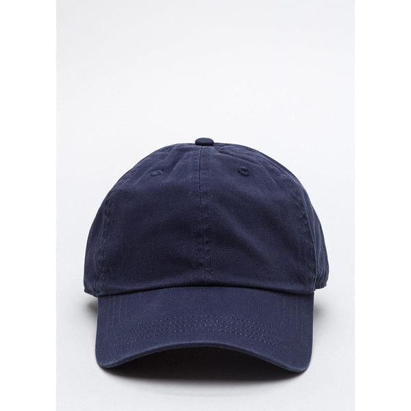 Not A Player Baseball Cap NAVY (9.46 AUD) ❤ liked on Polyvore featuring accessories, hats, blue, blue baseball cap, baseball caps hats, blue hat, baseball hats e navy blue hat