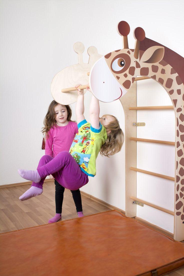 Sprossenwand Giraffe Natur Jumbo
