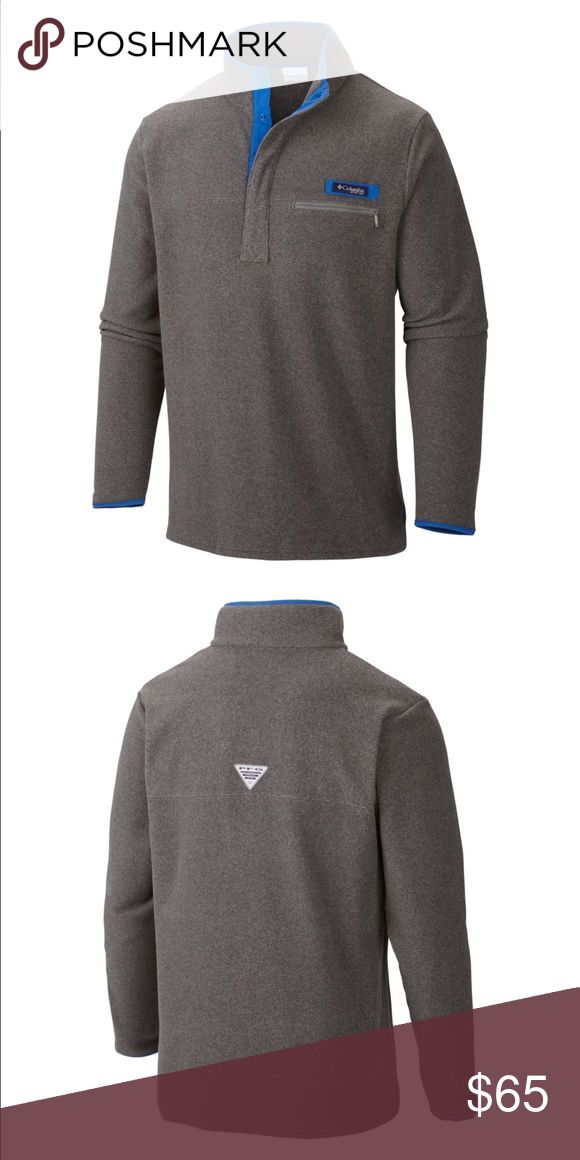 Men's Columbia Harborside Fleece Pullover Men's Big and Tall size 4X! Cool Grey Heather/Vivid Blue. New and never worn! Ordered the wrong size. Very firm on price. Columbia Jackets & Coats Lightweight & Shirt Jackets