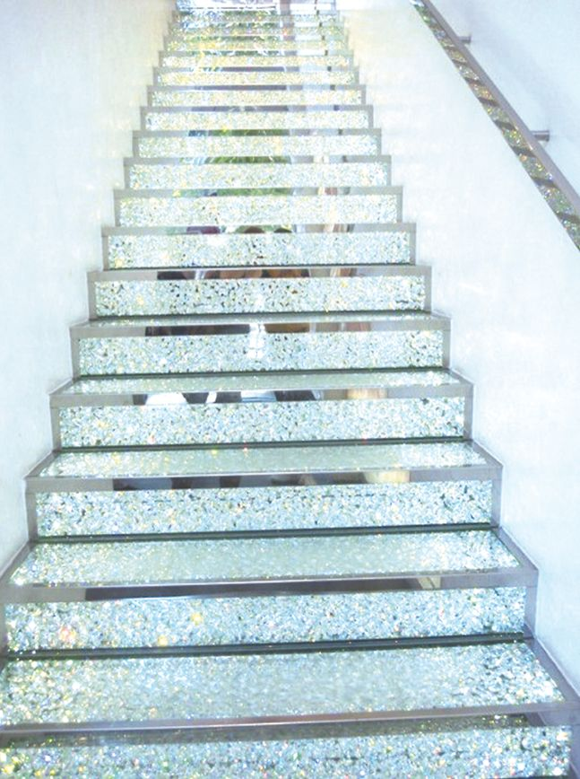 Stairway to glitter heaven. just wow...this would have to be for someone that didnt have kids