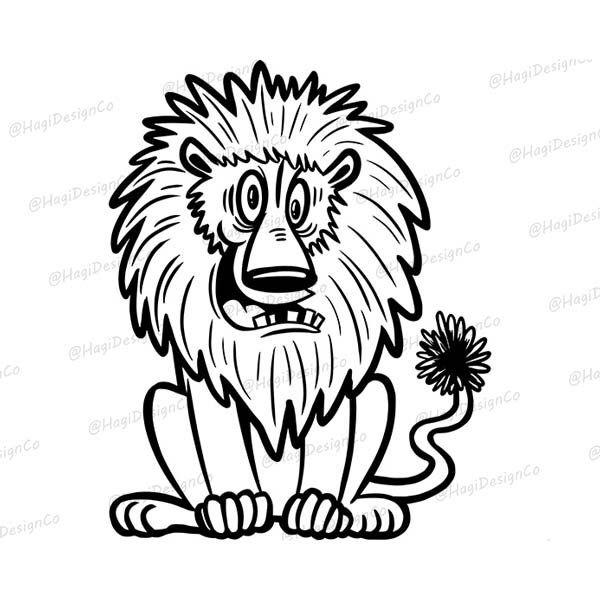 Lion Outline Png Files Cartoon Lion Clipart Digital Animal Etsy Animal Outline Cartoon Lion Lion Clipart