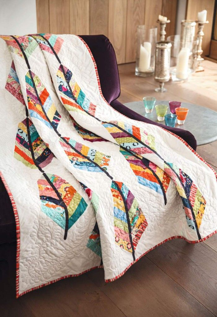 Feathers quilt by Jo Avery @Joanne Avery  for issue 9 of Love Patchwork & Quilting magazine