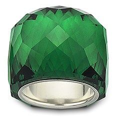 love green: Crystals Rings, Emeralds Cities, Cocktails Rings, Emeralds Green, Swarovski Crystals, Nirvana Emeralds, Green Rings, Emerald Rings, Emeralds Rings