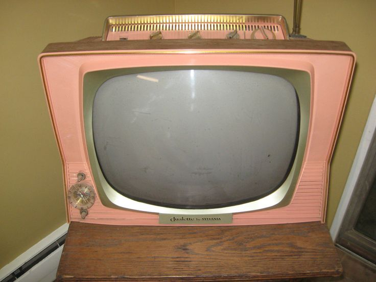WOW Vintage 1959 Sylvania Dualette TV Set Coral with Clock Timer | eBay