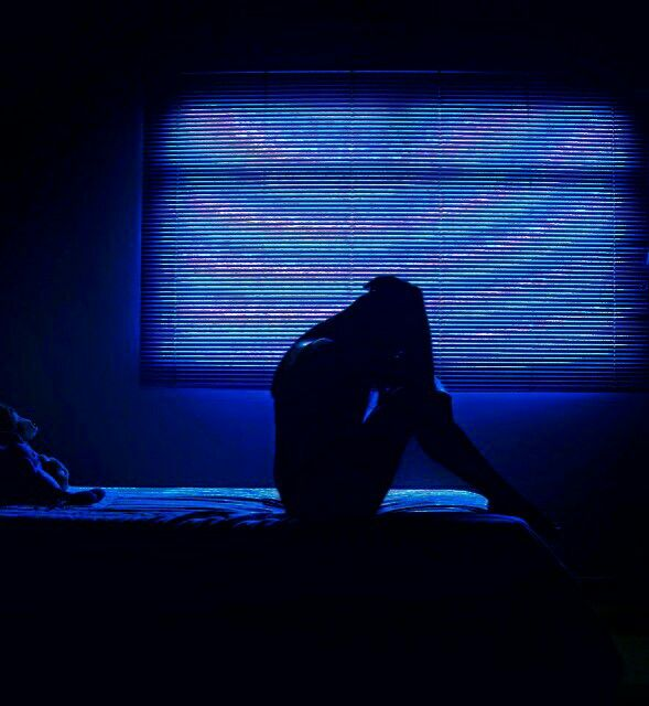 At night, everything seemed to be the same: a wave of thoughts eating him alive. Poison. He was drowning in poison. #blue #aesthetic #writing