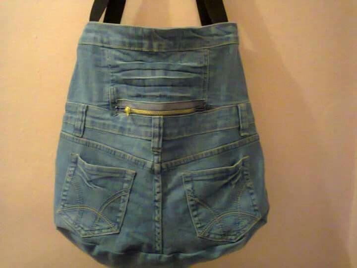 Taška z dětských jeans s vysokým pasem