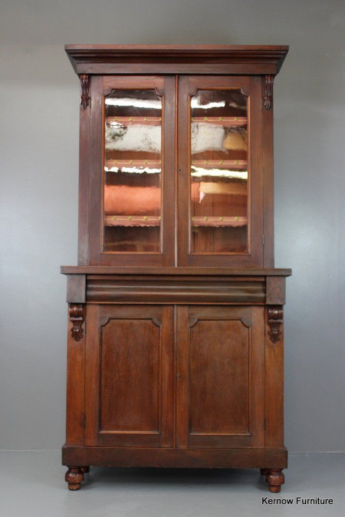 Antique Victorian Glazed Mahogany Bookcase