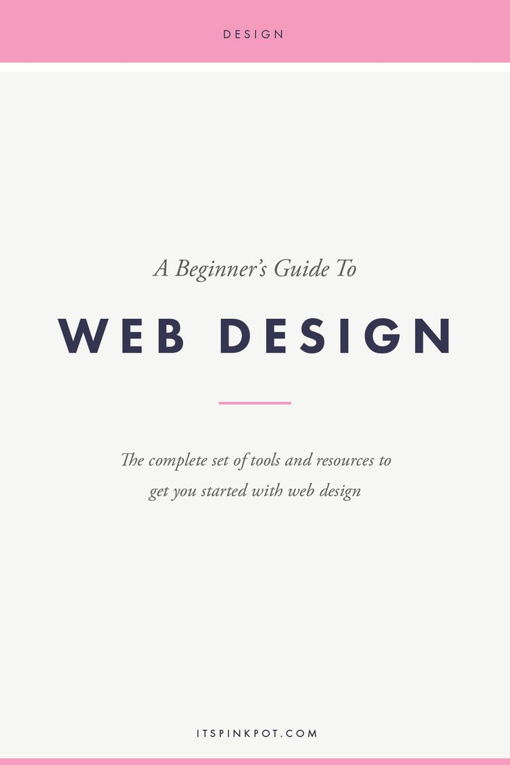 How to get started with Web Design : Tools and Resources - PinkPot
