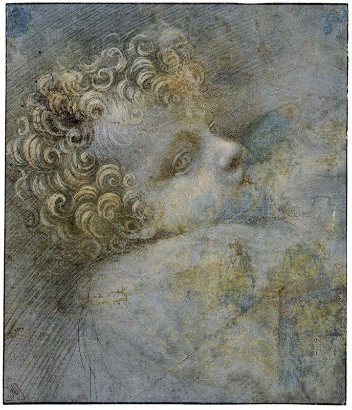 Giovanni Antonio Boltraffio Studio per testa di Cristo bambino 1490