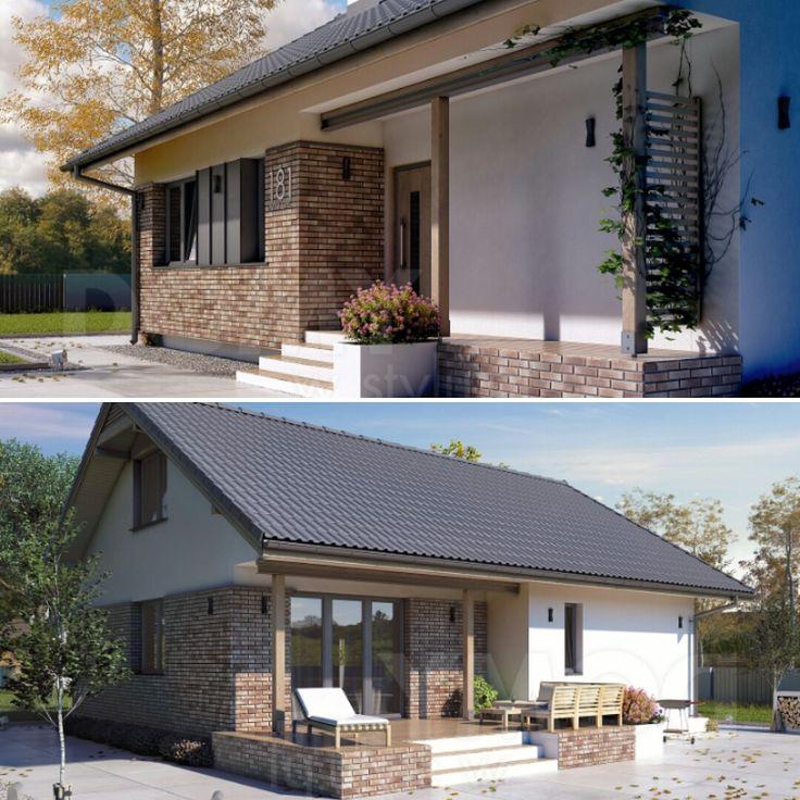 Projekt domu Mak 3 (115 m2). Pełna prezentacja projektu dostępna jest na stronie: https://www.domywstylu.pl/projekt-domu-mak_3.php #mak3 #domywstylu #mtmstyl #projekty #projektygotowe #dom #domy #projekt #budowadomu #budujemydom #design #newdesign #home #houses #architektura #architecture
