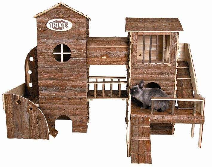 This Beautiful Luxurious 3 Storey Bosse Adventure Land, is the ultimate in rabbit Heaven!    Complete with Ramps, runways, tunnel, shady spot under terrace, balcony and feature windows, what more could you give your rabbit?    Both roofs are removable, giving easy access.    Measuring 156 x 108 x 99cm. The greatest rabbit luxury!    http://www.bunnybazaar.com/RENTRXBSHE/Enclosures/Trixie-Luxury-Bosse-Adventure-Land-House