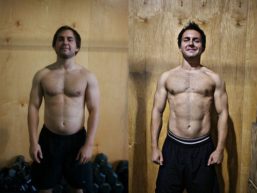 blake-before-and-after- 60 days of Crossfit and Paleo diet ...