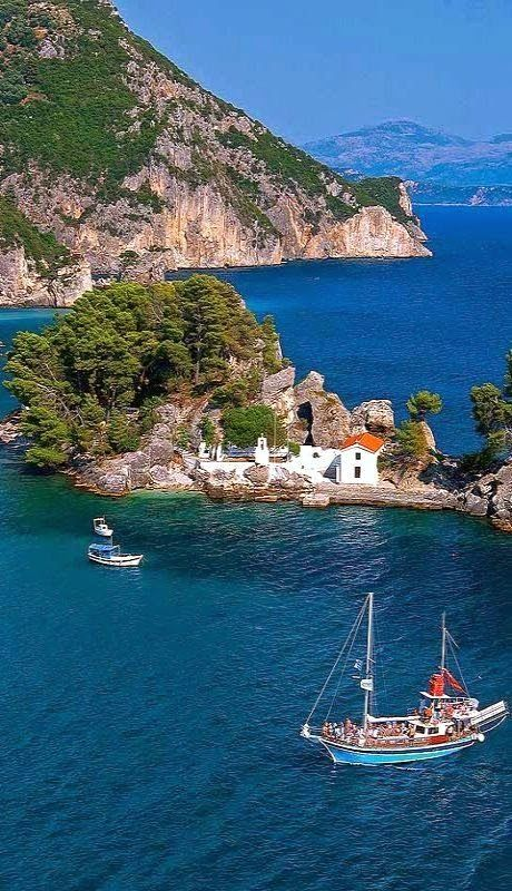 The Island of Panagia off the coast of Parga, Preveza, Greece