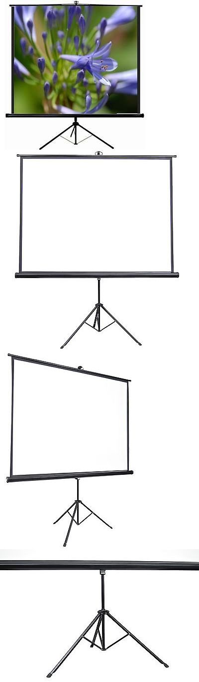 Projection Screens and Material: Vivo 100 Portable Projector Screen 4:3 Projection Pull Up Foldable Stand Tripod -> BUY IT NOW ONLY: $79.99 on eBay!