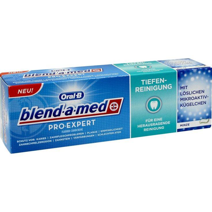 BLEND A MED ProExpert Tiefenreinigung:   Packungsinhalt: 75 ml Zahncreme PZN: 10048692 Hersteller: Procter & Gamble GmbH Preis: 2,41 EUR…