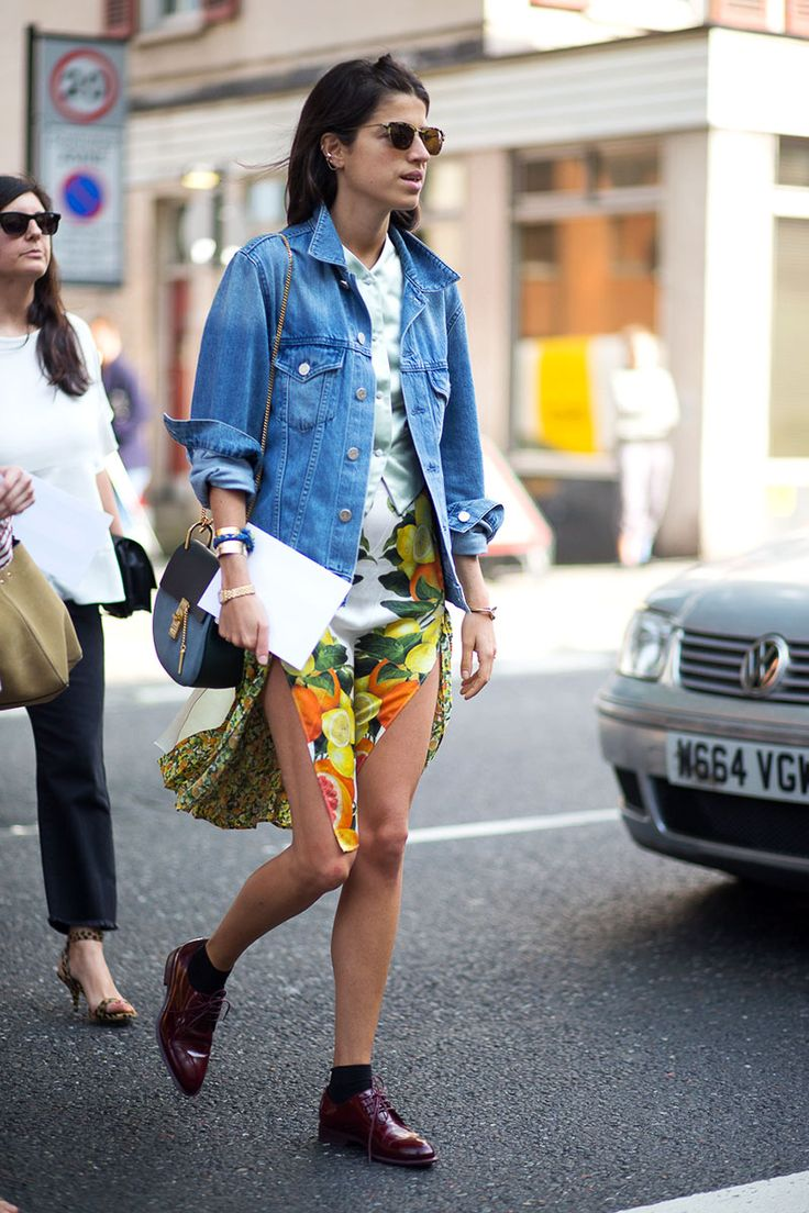 Leandra Medine in a Stella McCartney dress   - HarpersBAZAAR.com