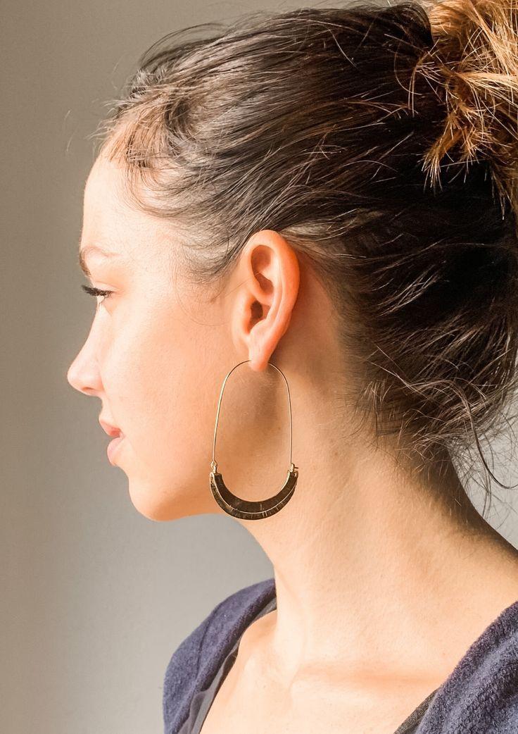 statement earrings beige and sterling earrings Brown geometric earrings brown nickel free earrings lightweight earrings modern jewelry