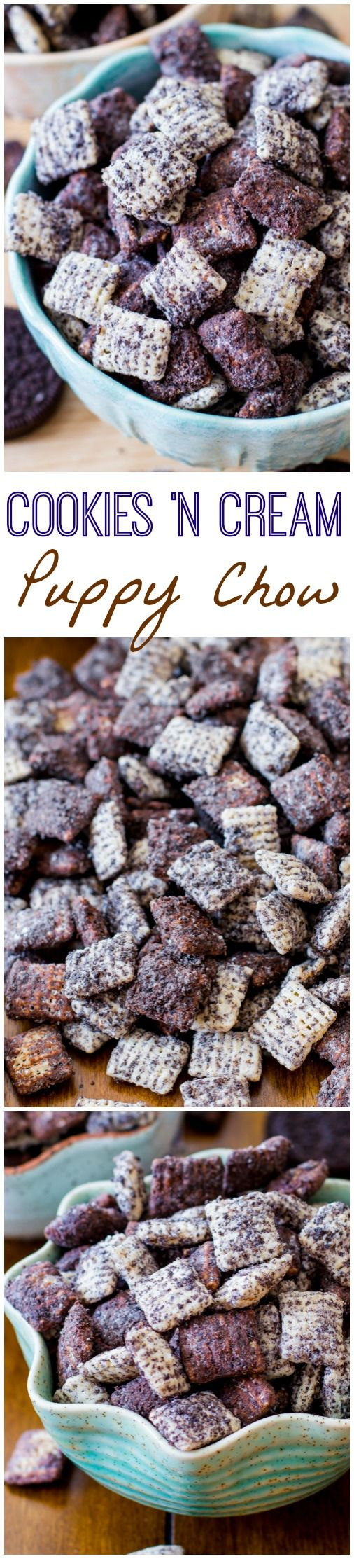 Cookies 'n Cream Puppy Chow-- love this stuff!