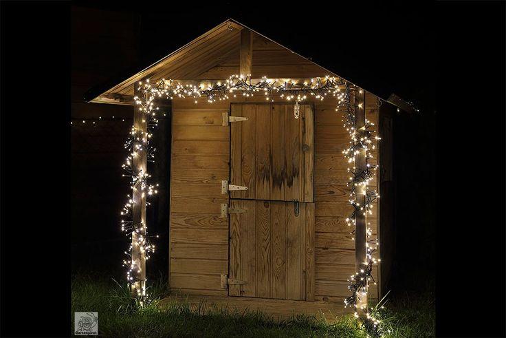 #Büschellichterkette mit 768 LED warmweiß geeignet für den Außenbereich als #Weihnachtsdeko zu #Weihnachten Geeignet als wunderschöne #Beleuchtung zum Fest.