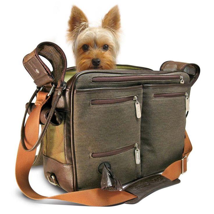 Cambridge Incognito TakeMeAlong Dog Carrier - Brown Canvas