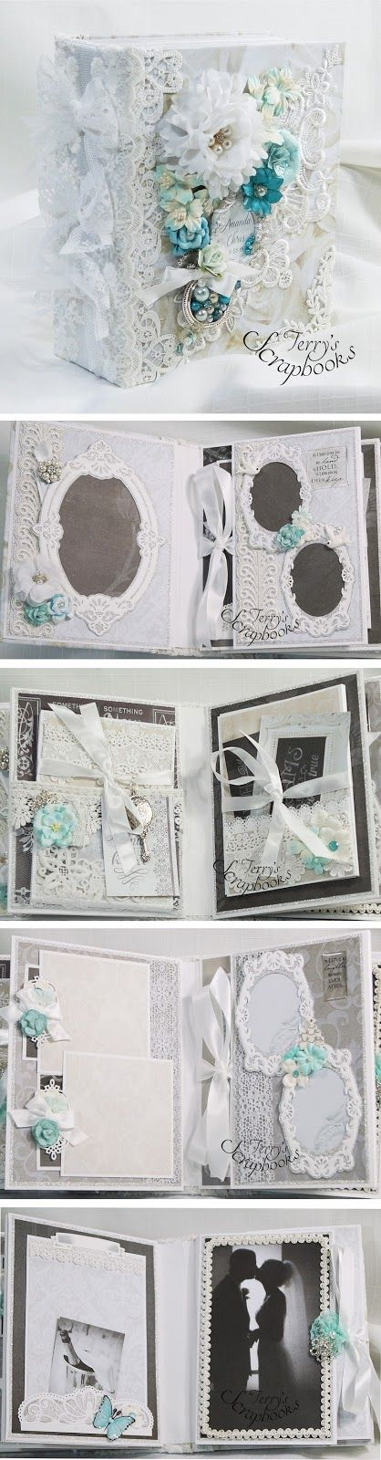 Terry's Scrapbooks: Paper House To Have and to Hold Wedding Mini album Reneabouqets Design Team Project