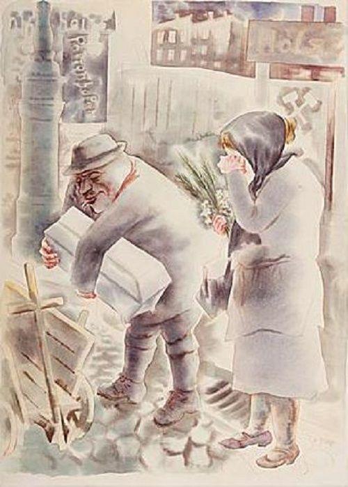 George Grosz - Begräbnis III Klasse (1930)