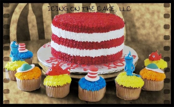 Dr. Suess inspired hat and cupcakes!  **TIP** if you make fondant/gumpaste items for the top of cupcakes, be aware that the natural heat that is in the cupcake holder will often soften your pieces.  So....add your pieces at the very last minute to avoid melted cupcake toppers :-) www.facebook.com/icingonthecake1: Melted Cupcake, Character Cakes, Cakes Bakin, Cakes Ideas, Cupcake Holders, Cakes And Cupcakes, Kendall Cupcake, Parties Cakes, Cupcake Toppers