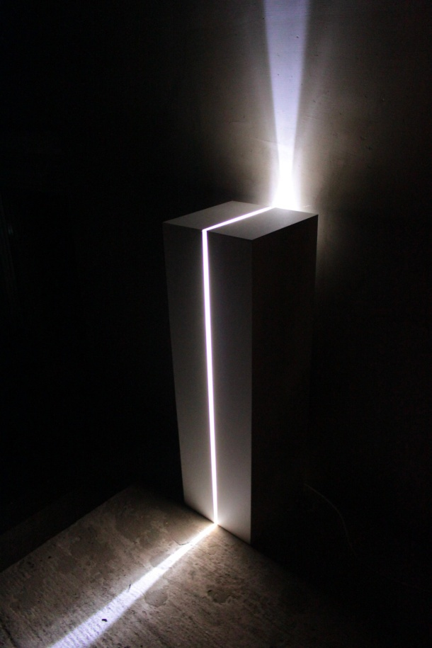 Idol - mood lamp for in- and outdoors, by Peter Toronyi. Made of concrete.