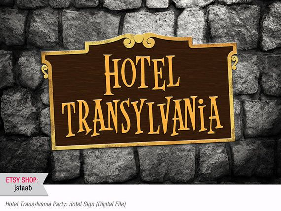 36x24 Hotel Transylvania Party Hotel Sign Digital File by jstaab, $10.00