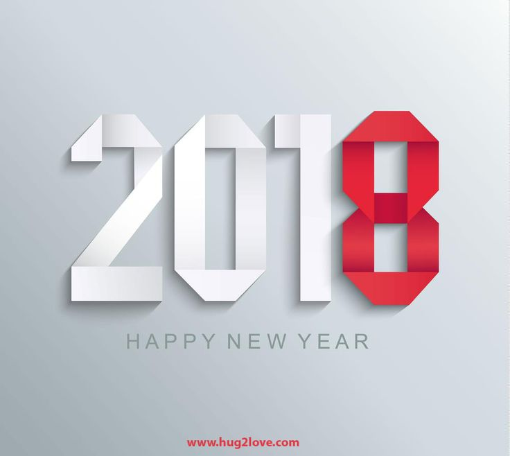 Red And White New Year 2018 3d Wallpaper BG Image