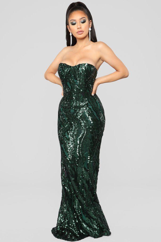 Glistening Moments Maxi Dress - Emerald in 2019  f4c2952fb366