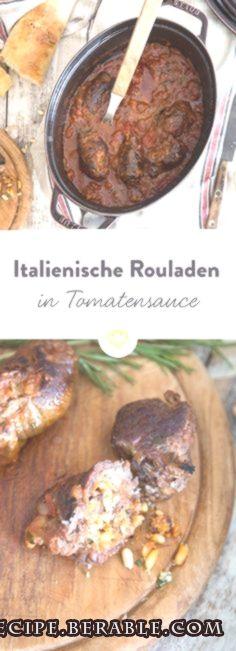 Italienische Rinderrouladen in Tomatensauce