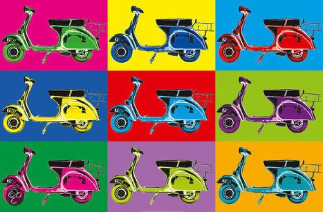 XXL Poster Vesparama - Italiaanse Producten - Prodotti Italiani