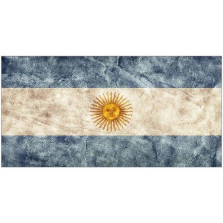 Argentinian Flag in a Grunge Style Photography by Eazl, Orange
