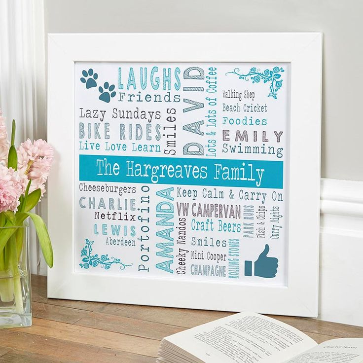 Beautiful Personalised Word Art Prints & Canvases. Easy to Create & Preview On Screen Before You Buy. A perfect gift for any occasion. From £14.99 with Fast Free Delivery. Design & order yours at www.chatterboxwalls.co.uk?utm_content=buffer6e7ab&utm_medium=social&utm_source=pinterest.com&utm_campaign=buffer