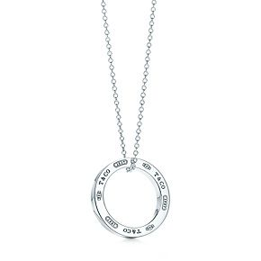 Tiffany 1837™ circle pendant in sterling silver, medium.