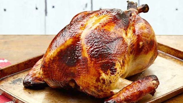 Get this all-star, easy-to-follow Honey Brined Smoked Turkey recipe from Alton Brown