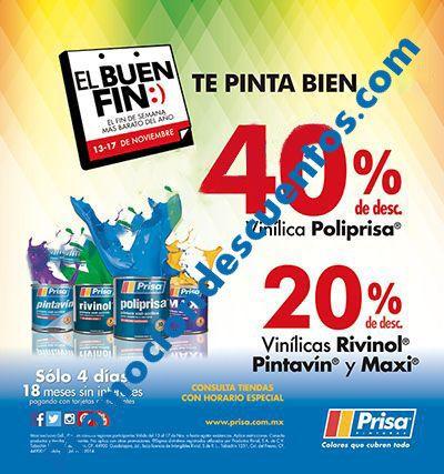 Promociones del Buen Fin 2015 en pinturas Comex y Prisa